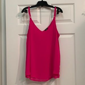 Pink double layer cami